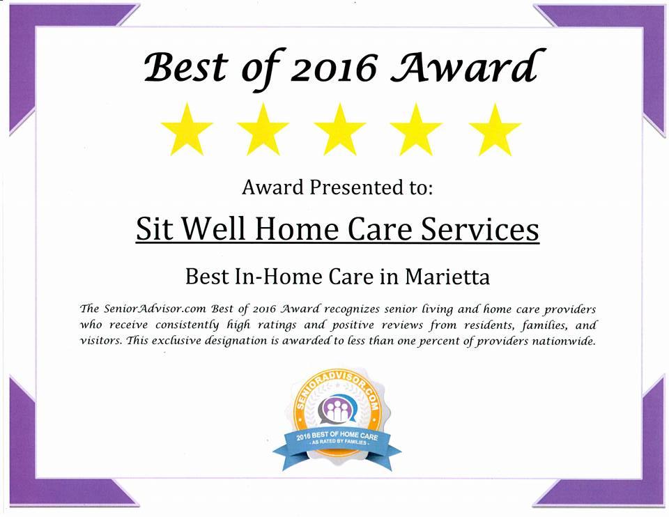 2016 best in-home care services marietta ga